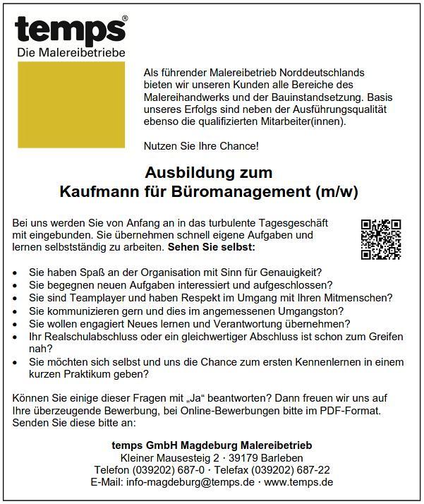 ausbildung zum kaufmann fr bromanagement mw - Bewerbung Ausbildung Kauffrau Fur Buromanagement